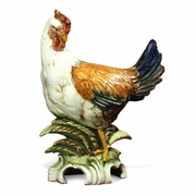 Colored Hen 16.5- Italian Ceramic