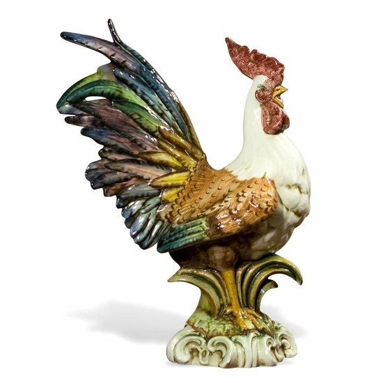 Colored Rooster 23.5-Italian Ceramic