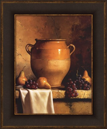 Confit Jar with Pears and Grapes by Loran Speck