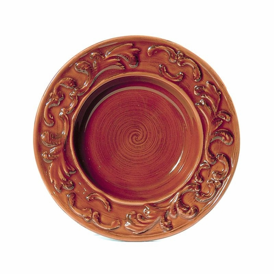 "(D) Baroque Paprika 10"" Soup Plates Set of 4"