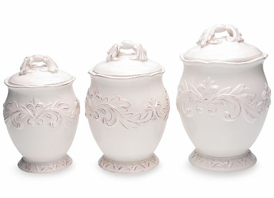 Firenze Ivory 3-Piece Canister Set