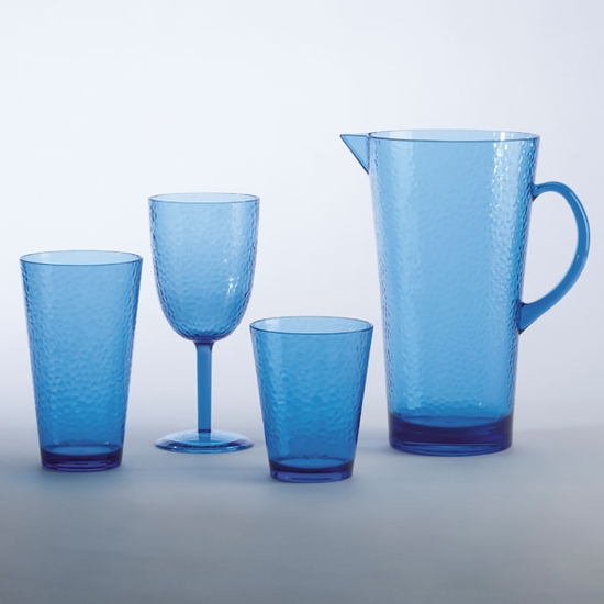 Hammered Acrylic Drinkware-Melamine Collection