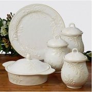 Ivory Round Baker w/Lid by Keridesign