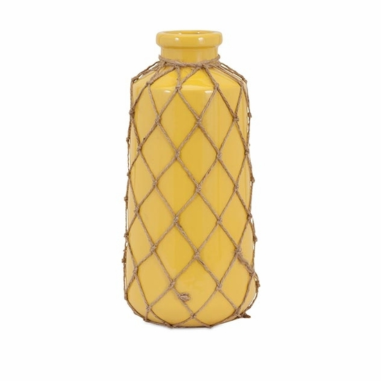 Jute Large Yellow Vase