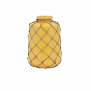 Jute Small Yellow Vase