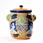 Large Grapes Accent Biscotti Jar