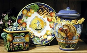 Majolica Ricco Azzuro Italian Ceramic Collection by INTRADAItaly