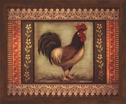 Mediterranean Rooster I by Kimberly Poloson-Framed Art Print