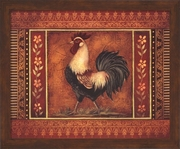Mediterranean Rooster III by Kimberly Poloson Framed Art Print