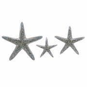 Mosaic Star Fish Wall Decor - Set of 3