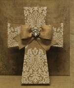 Printed Burlap with Attached Bow Collection