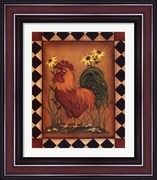 Red Rooster I by Kim Lewis-Framed Art Print