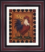 Red Rooster II by Kim Lewis Framed Art Print