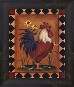 Red Rooster II by Kim Lewis-Framed Art Print