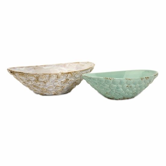 Seashell Serving Bowls - Set of 2