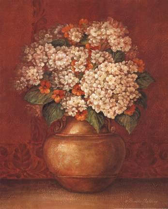 Tuscan Hydrangeas by Pamela Gladding Art Print
