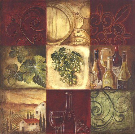 Tuscan Wine I by Gregory Gorham Art Print