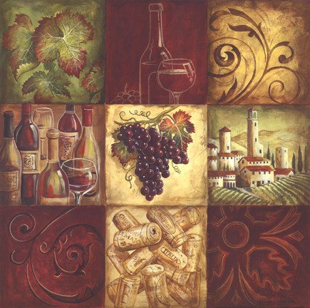 Tuscan Wine II by Gregory Gorham Art Print