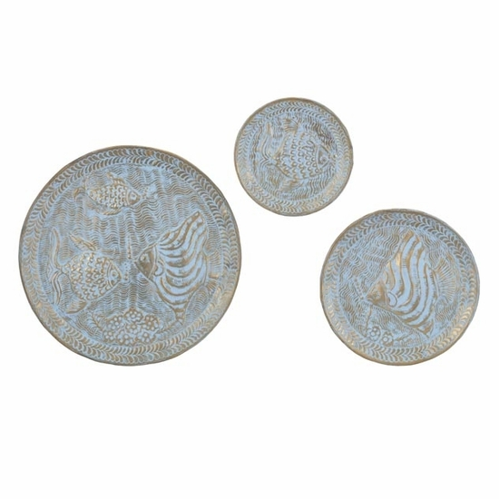 Under the Sea Embossed Wall Chargers - Set of 3