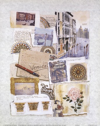 Venice by Richard Henson Art Print