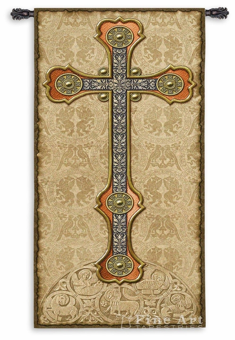 Vertical Cross Wall Tapestry