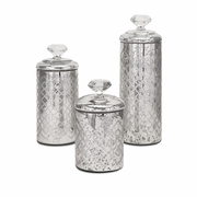 Waldorf Mercury Glass Canisters - Set of 3