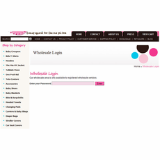 Password-protected Wholesale Area for Aabaco/Yahoo Stores
