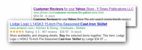 Rich Snippets for Aabaco/Yahoo Stores - Click to enlarge