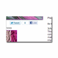 Twitter, Facebook Like, Pinterest and Google +1 buttons for Aabaco/Yahoo Stores