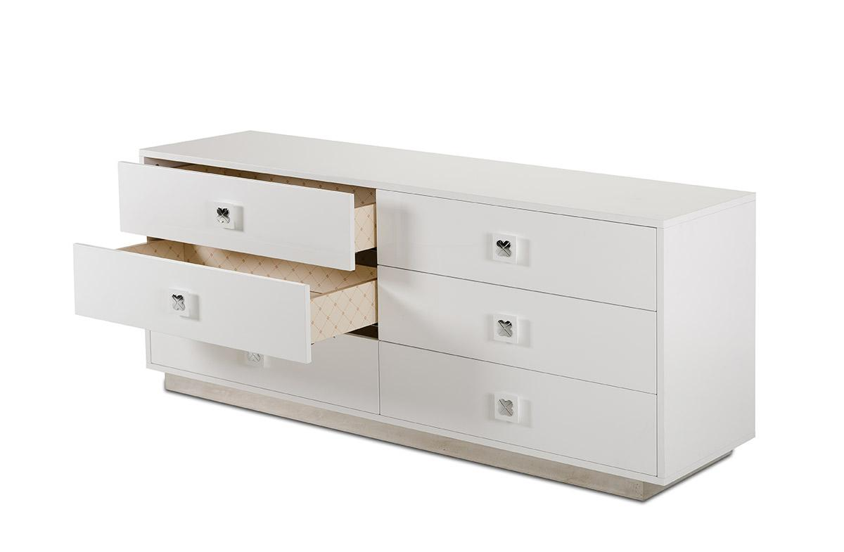 A Amp X Monica Modern White Gloss Dresser Table