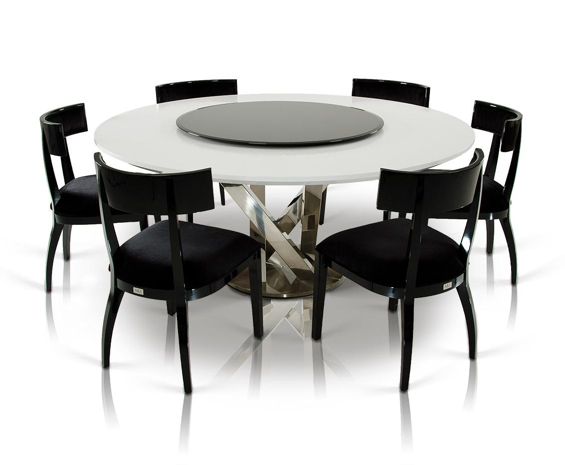 AampX Spiral Modern Round White Dining Table with Lazy Susan : a x spiral modern round white dining table with lazy susan 14 from www.zfurniture.com size 1133 x 933 jpeg 67kB
