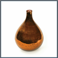 Amber Demijohn with Antiqued Silvering