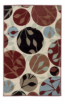 Anya - Leaf Contemporary Multi Color Rug