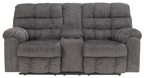 Ashley 94 Acieona Double Reclining Loveseat with Console
