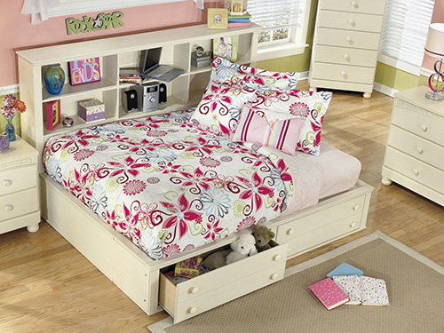 Ashley B213 21 35 05 85 Cottage Retreat Twin Bookcase With Footboard Storage
