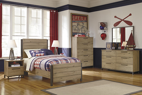 Ashley B298 21 26 52 53 83 Dexifield Twin Panel Bedroom Set