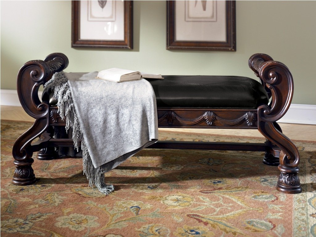 North Shore Bedroom Furniture Ashley B553 09 North Shore Large Upholstered Bedroom Bench