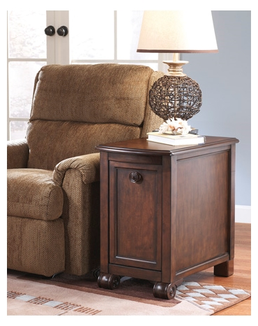 Ashley Chair Side End Table Brookfield Dark Brown