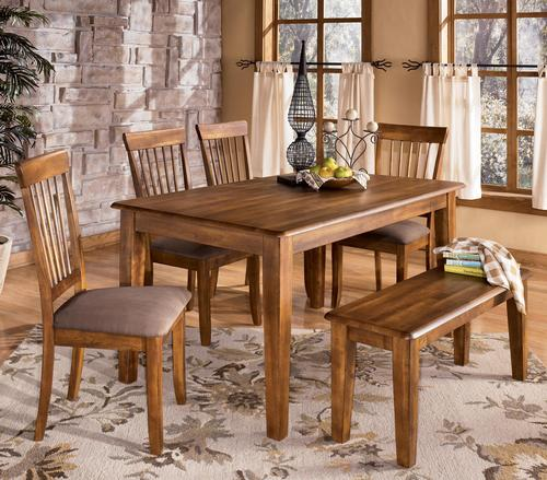 Ashley D199 25 00 01 Berringer 6 piece Rectangular Dining