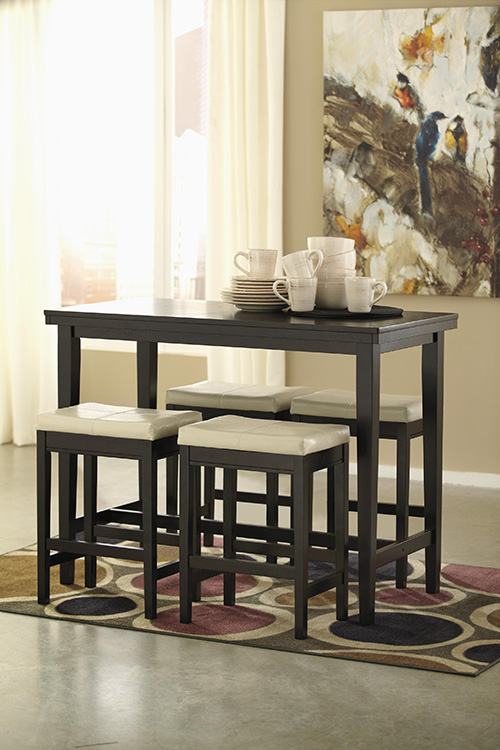 Ashley D250 13 124 Kimonte Rectangular Dining Room Counter  : ashley d250 13 124 kimonte rectangular dining room counter table with 4 ivory bar stools 2 from www.zfurniture.com size 500 x 750 jpeg 143kB