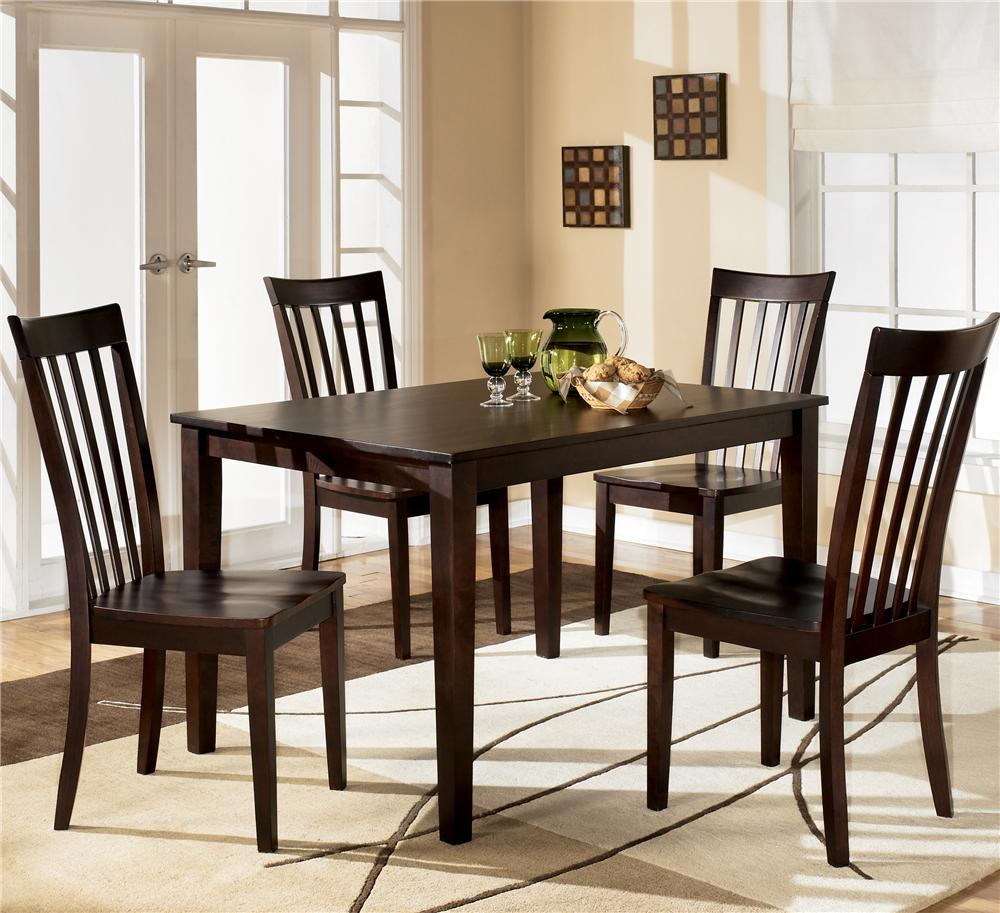 Ashley D258 225 Hyland Rectangular Dining Room Table Set 5CN