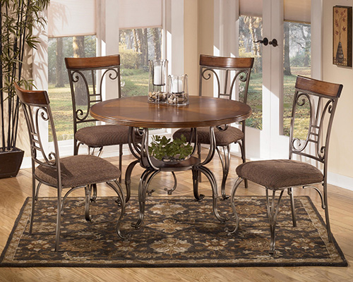 Ashley D313 15T Plentywood Round Dining Table Top