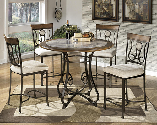 Ashley D314 13T Hopstand Round Dining Room Counter Table Top