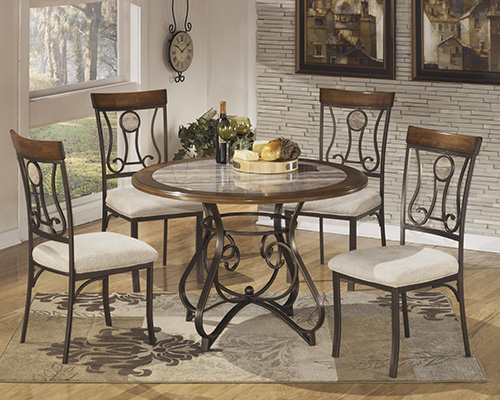 ashley d314 15t b 01 hopstand round dining room table set