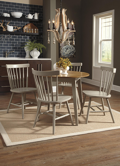 Ashley D389 15 01 Bantilly Round Dining Room Table Set