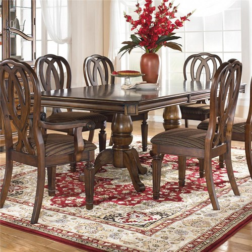 Ashley D527 55T Hamlyn Rectangular Dining Room Pedestal  : ashley d527 55t hamlyn rectangular dining room pedestal extension table top 3 from www.zfurniture.com size 500 x 500 jpeg 106kB