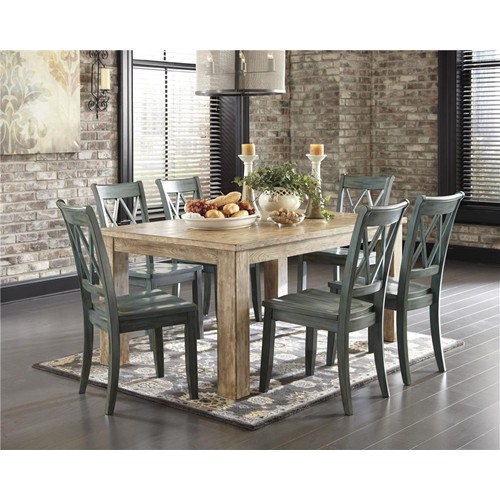 ashley d540 225 101 mestler 5 piece rectangular dining