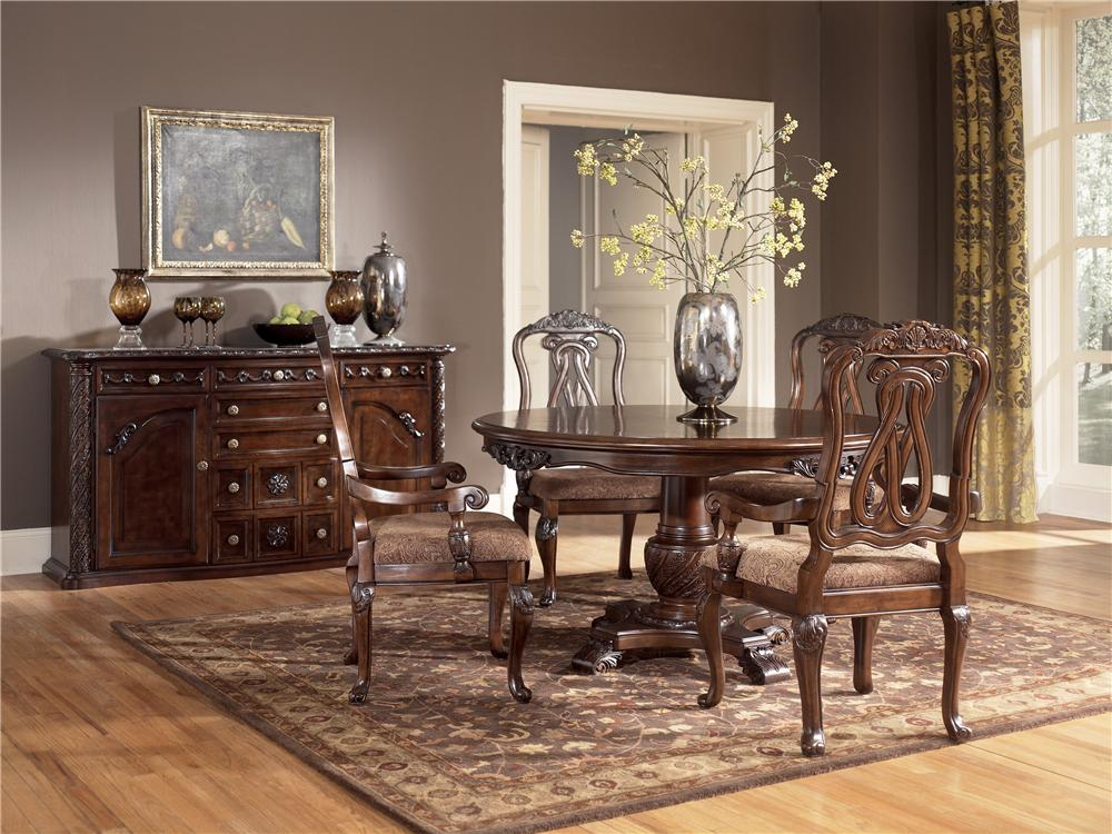 Ashley D553 50T North Shore Round Dining Room Pedestal  : ashley d553 50t north shore round dining room pedestal table top 3 from www.zfurniture.com size 1000 x 750 jpeg 130kB