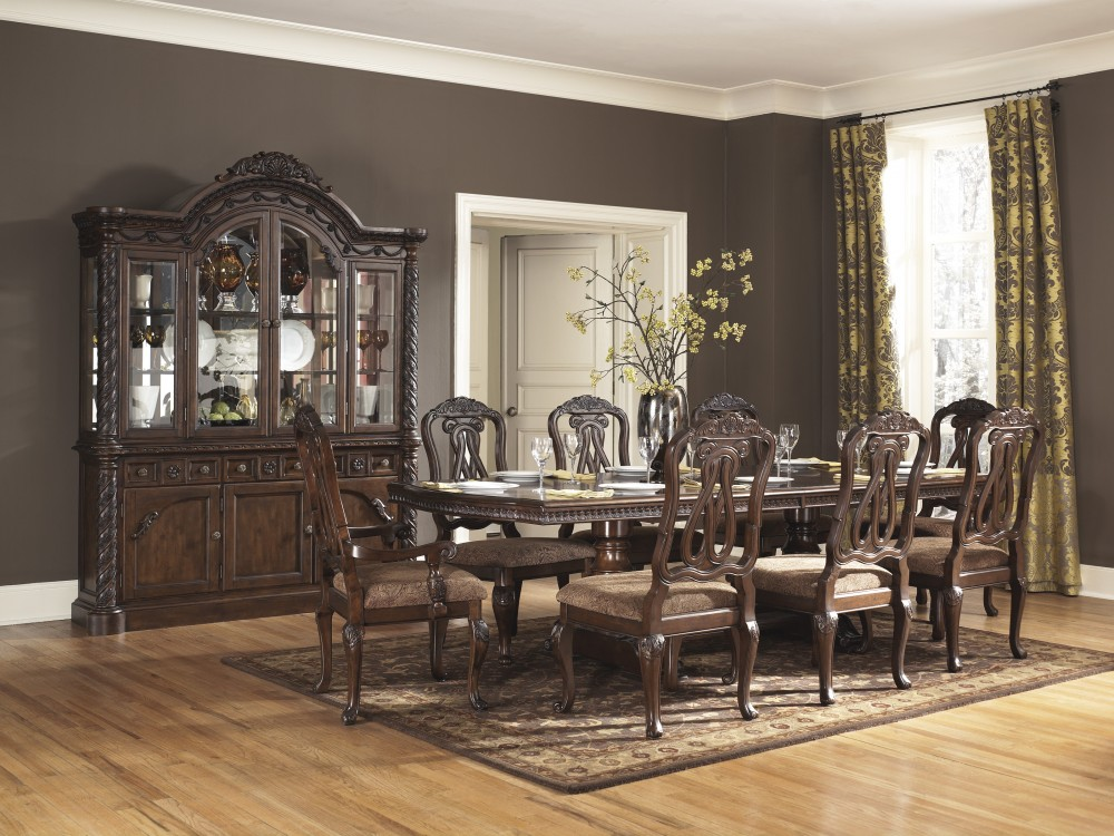 ashley d553 55t 55b 03 north shore rectangular dining room