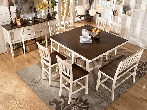 Ashley D583 32 Whitesburg Square Dining Room Counter
